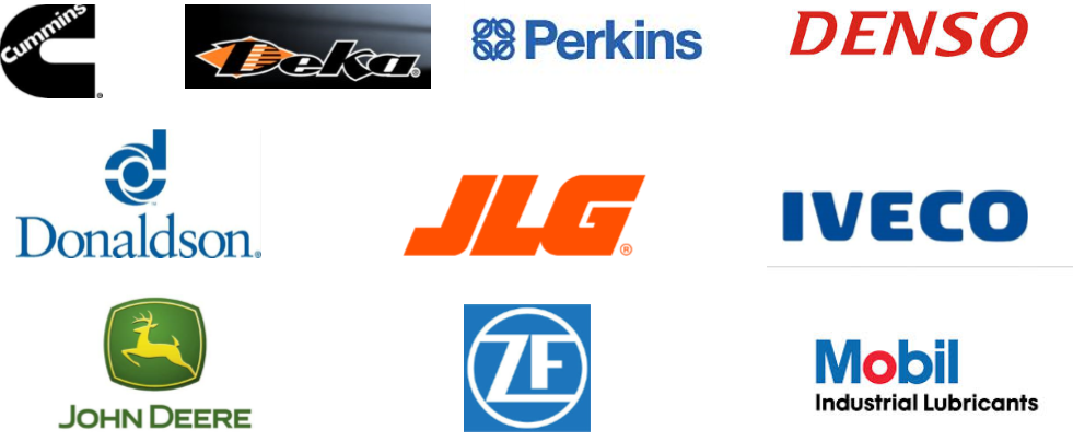 we have parts for jlf, john deere, mobil, iveco, cummings, and more